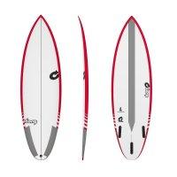Surfboard TORQ TEC Thruster 6.0 Rail Red