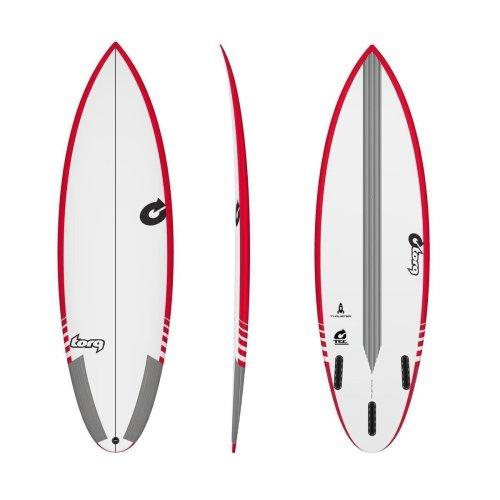 Surfboard TORQ Epoxy TEC Thruster 6.3 Rail Rot
