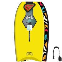 FLOOD Bodyboard Dynamx Stringer 37 Gelb Tribal