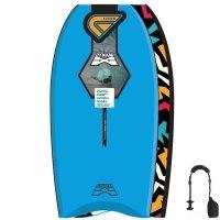 FLOOD Bodyboard Dynamx Stringer 41 Blau Tribal
