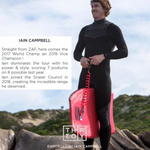 SNIPER Bodyboard Ian Campbell Pro Theory PP 41 Red