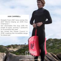 SNIPER Bodyboard Ian Campbell Pro Theory PP 42 Red