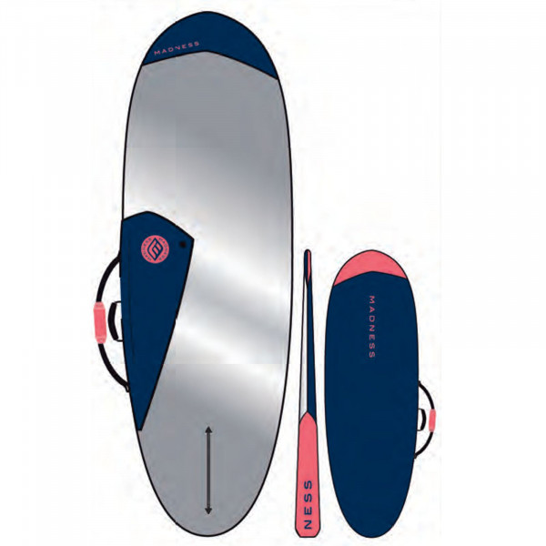 MADNESS Boardbag PE 6.0 Hybrid Blau Rot