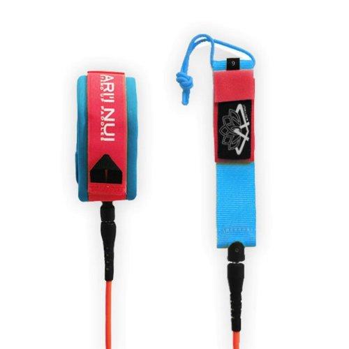 ARIINUI SUP Spiral Knie Leash 9.0 Rot Blau