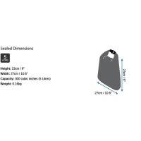 OverBoard wasserdichte Tasche 5 Liter Schwarz