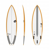 Surfboard TORQ TEC Comp 6.2 Rail Yellow