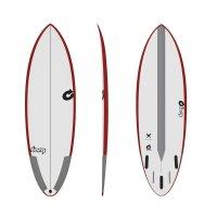 Surfboard TORQ TEC Multiplier 6.0 rail red
